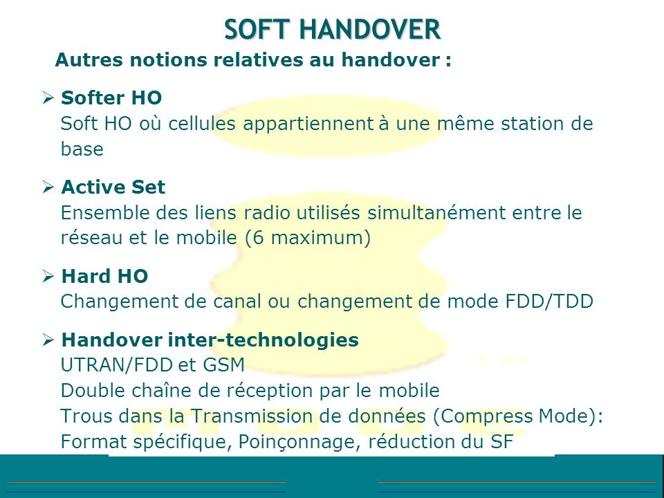 SOFT HANDOVER Softer HO