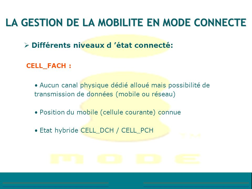 LA GESTION DE LA MOBILITE EN MODE CONNECTE