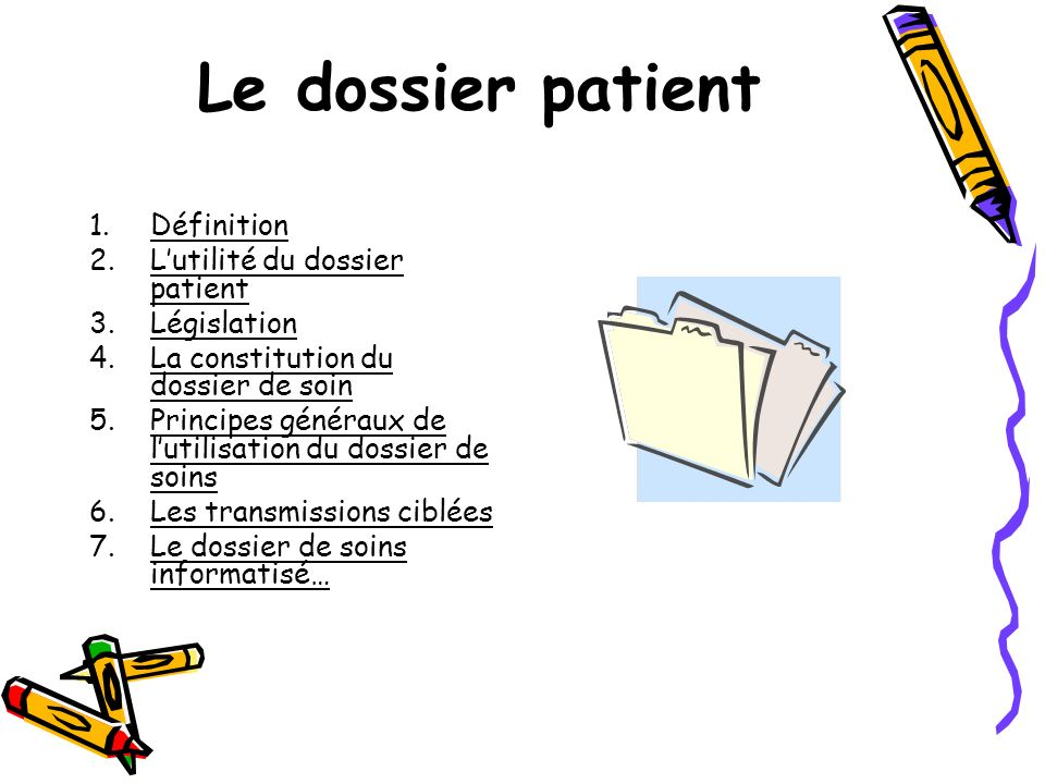 le dossier patient ppt video online t l charger. Black Bedroom Furniture Sets. Home Design Ideas