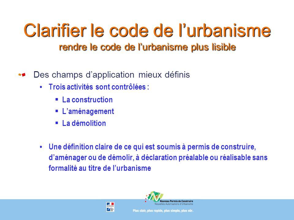 Clarifier le code de l'urbanisme rendre le code de l'urbanisme plus lisible
