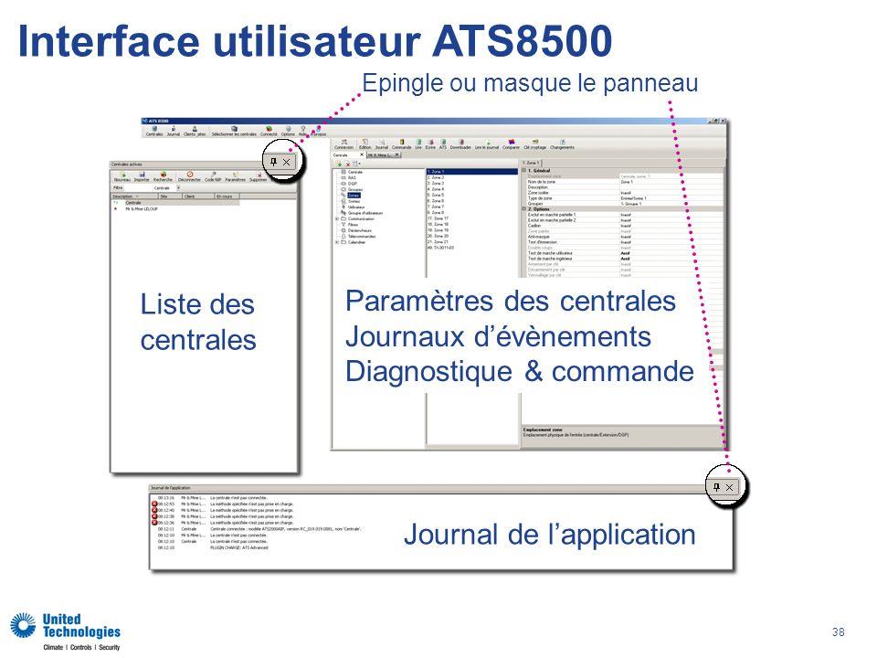 Interface utilisateur ATS8500