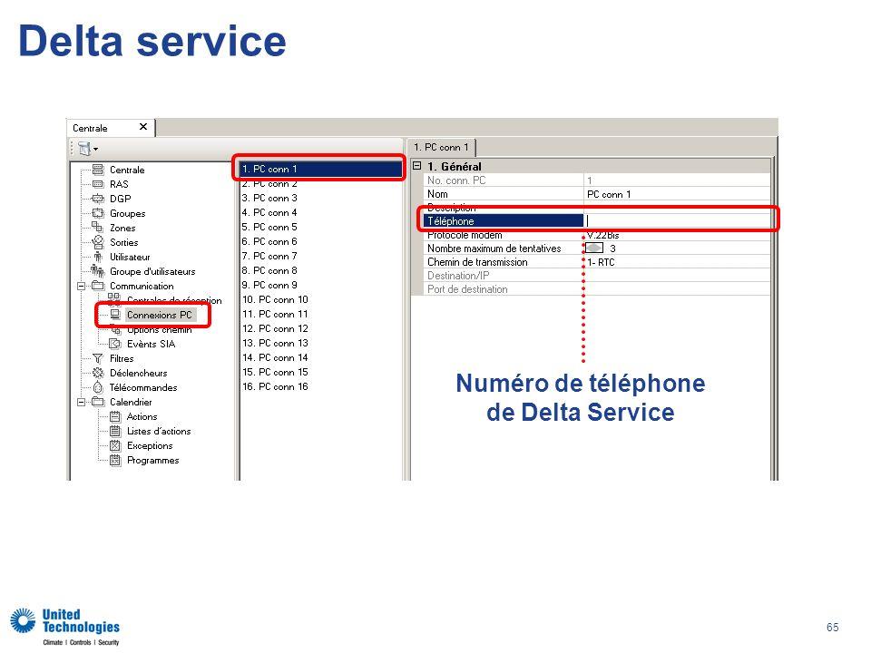 Numéro de téléphone de Delta Service