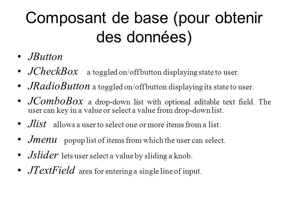 Composant de base (pour obtenir des données)