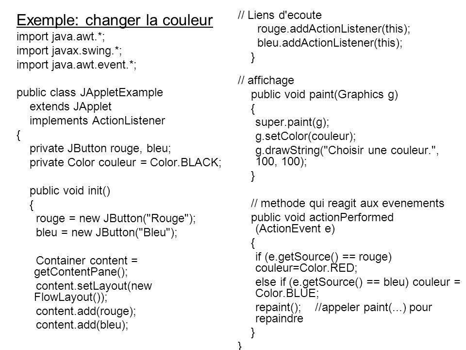 Exemple: changer la couleur