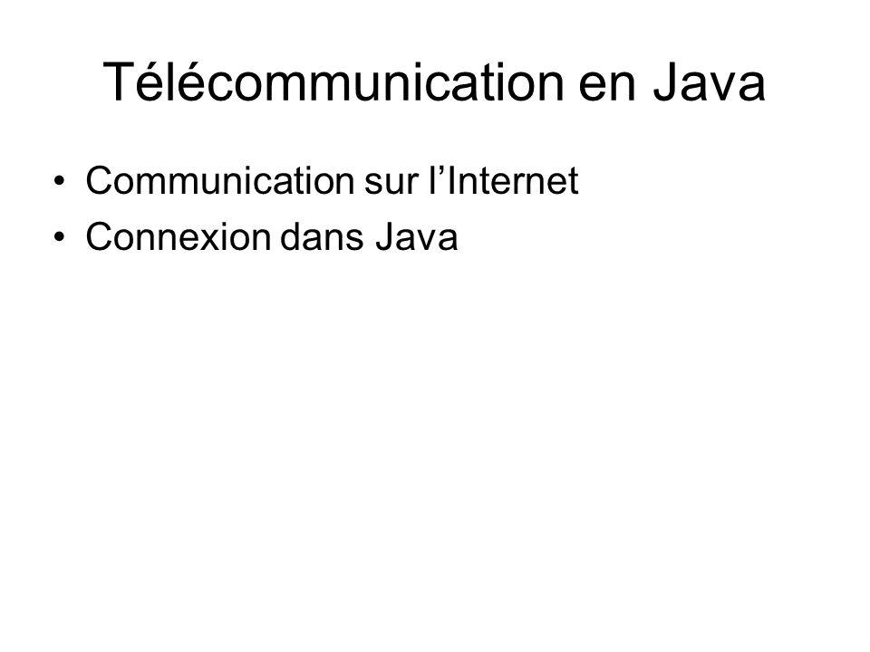 Télécommunication en Java