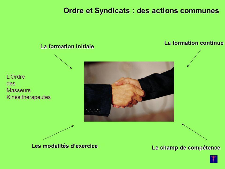 Ordre et Syndicats : des actions communes