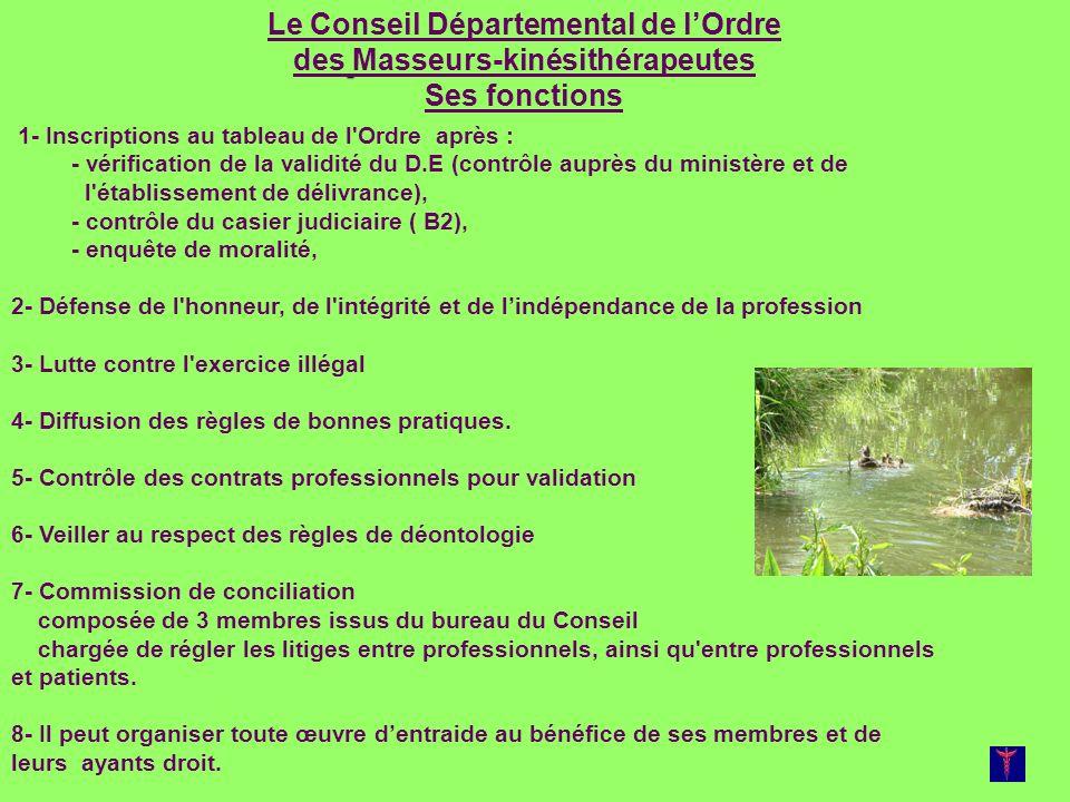 Le Conseil Départemental de l'Ordre des Masseurs-kinésithérapeutes