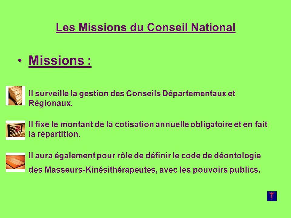 Les Missions du Conseil National