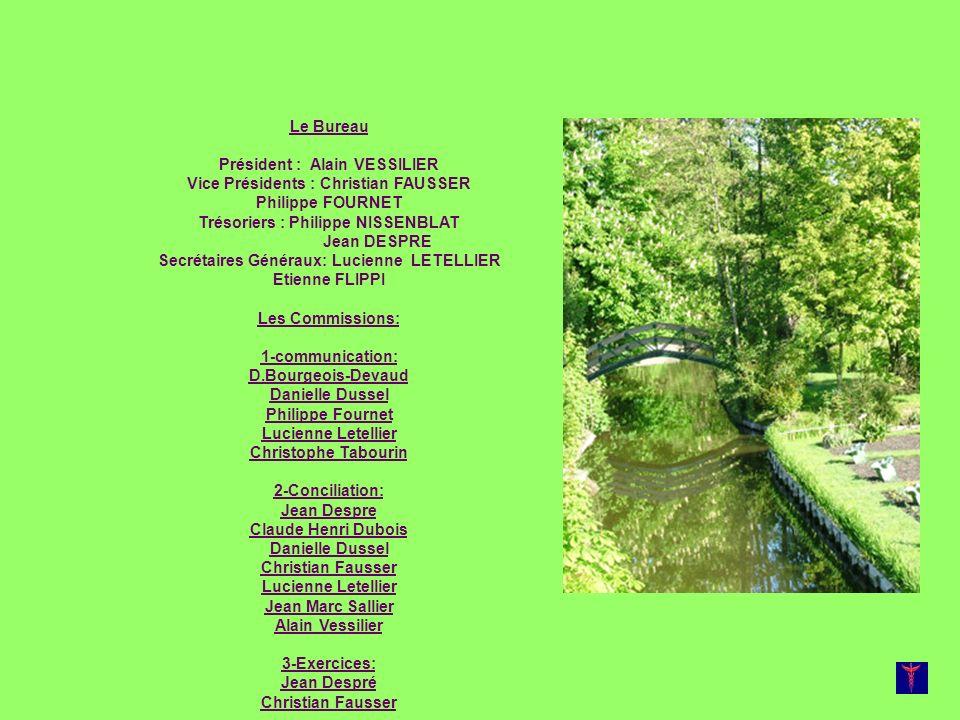 Trésoriers : Philippe NISSENBLAT Jean DESPRE