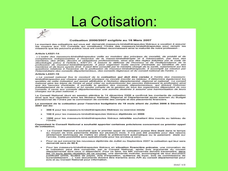 La Cotisation:
