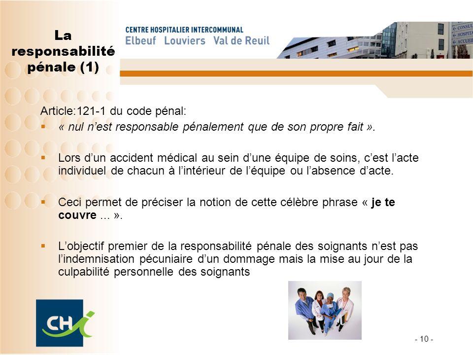 La responsabilité pénale (1)