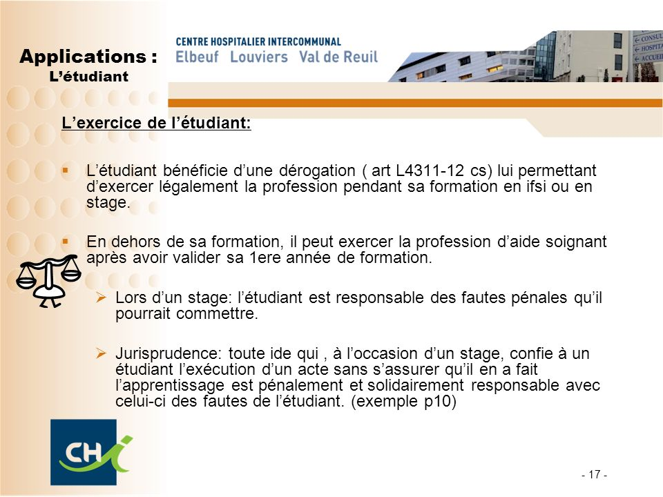 Applications : L'étudiant