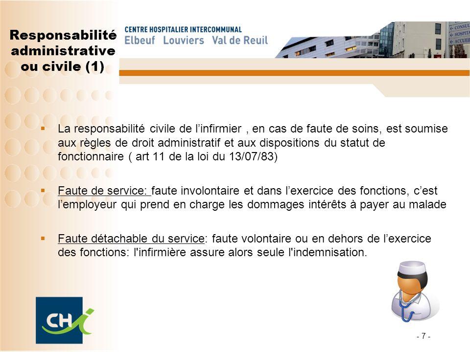 Responsabilité administrative ou civile (1)