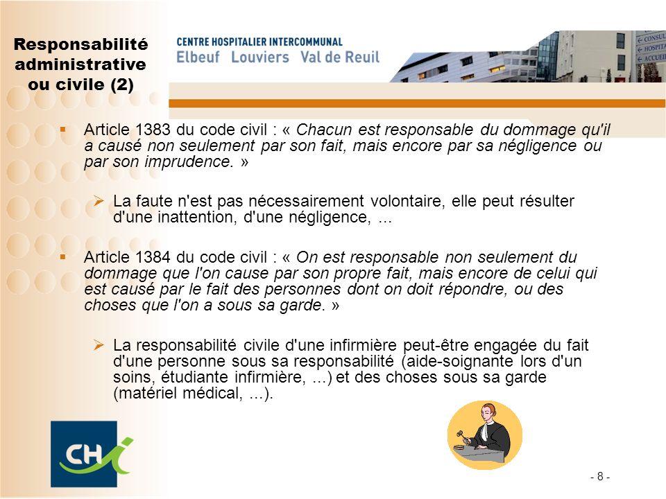 Responsabilité administrative ou civile (2)