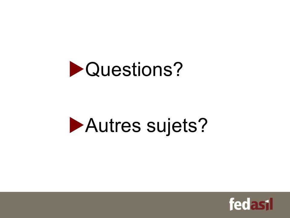 Questions Autres sujets