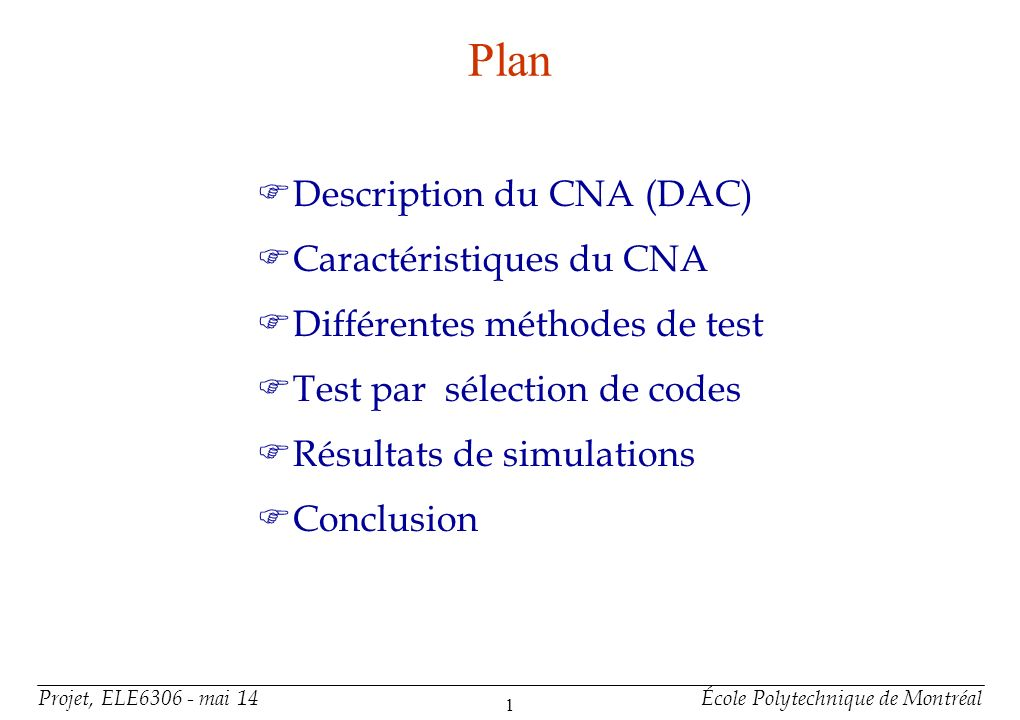 Description du CNA Fonction : CNA R-2R: