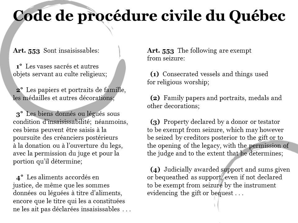 Code de procédure civile du Québec
