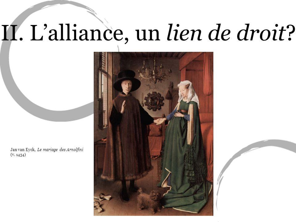 II. L'alliance, un lien de droit