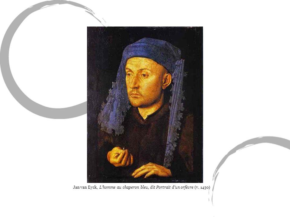 Jan van Eyck, L'homme au chaperon bleu, dit Portrait d'un orfèvre (v