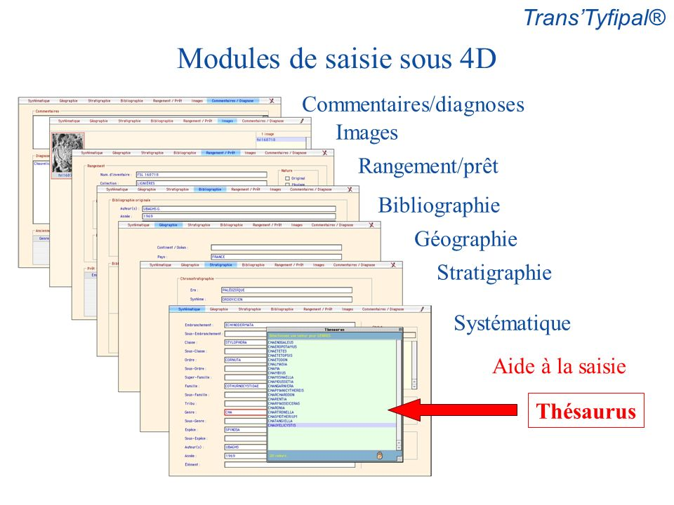 Modules de saisie sous 4D
