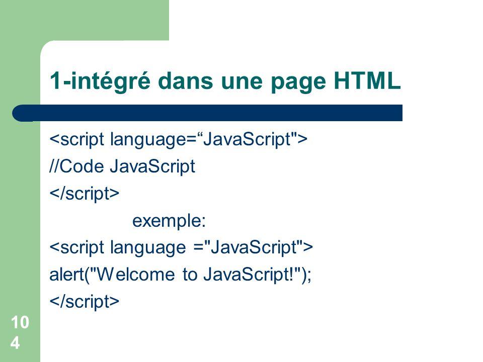 1-intégré dans une page HTML