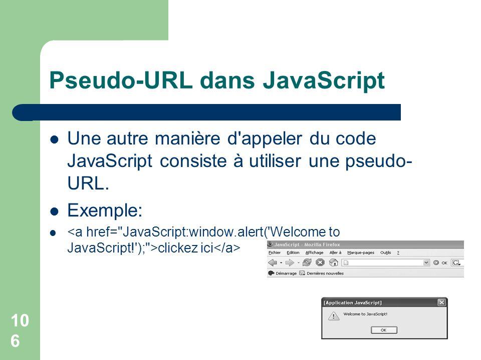 Pseudo-URL dans JavaScript