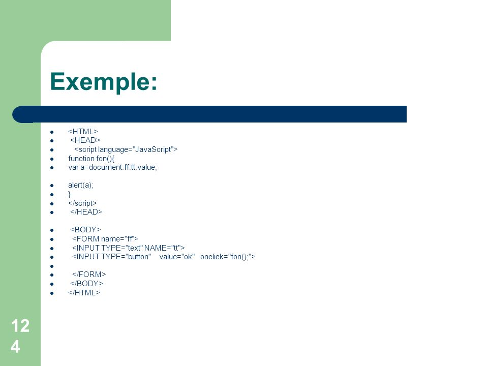 Exemple: <HTML> <HEAD>