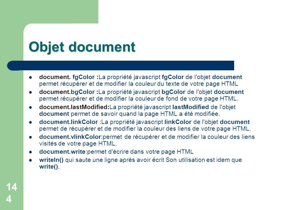 Objet document