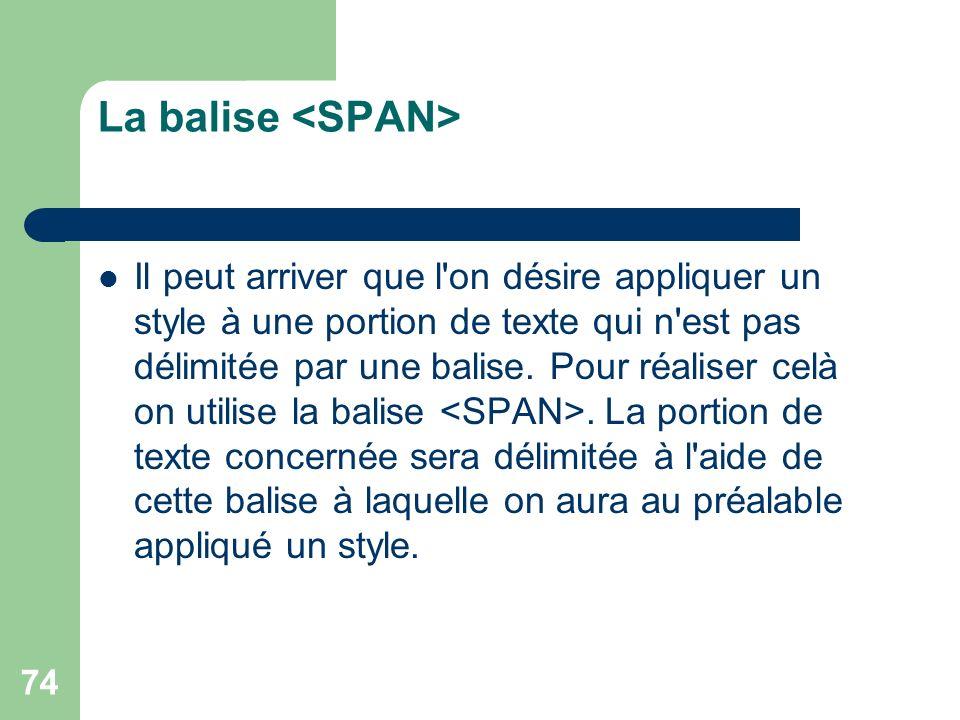 La balise <SPAN>