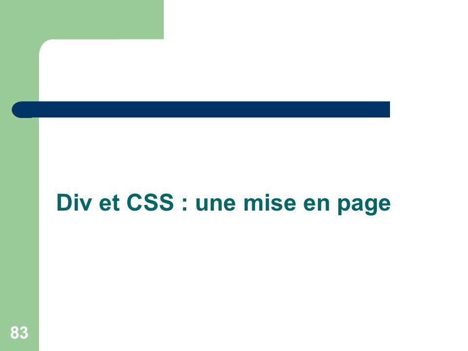 Div et CSS : une mise en page