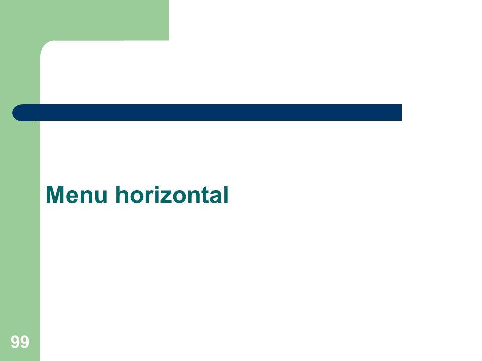 Menu horizontal