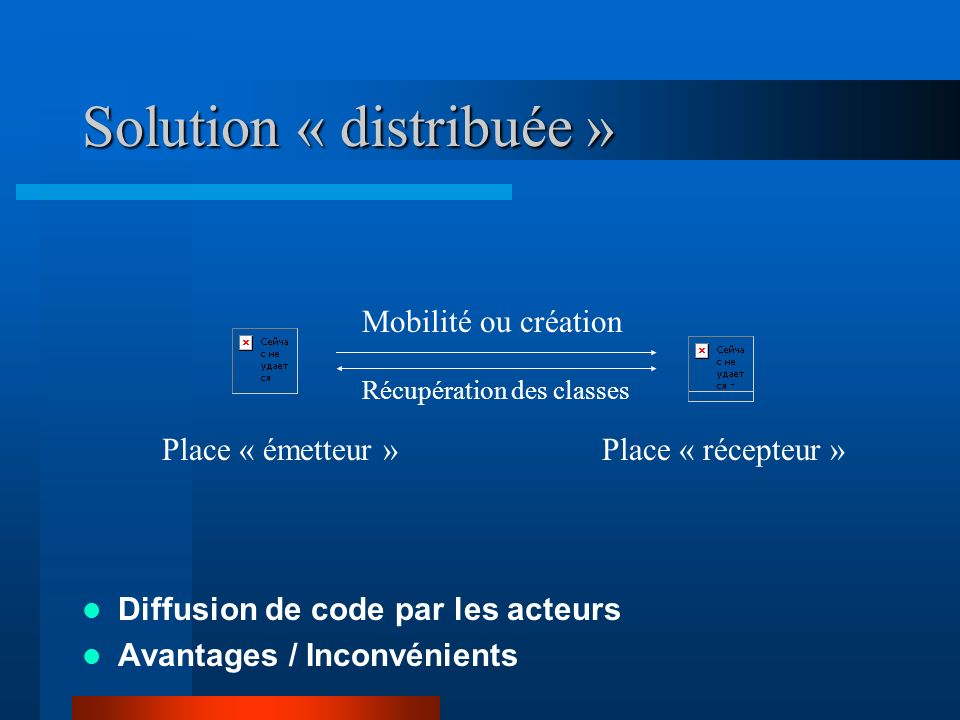 Solution « distribuée »