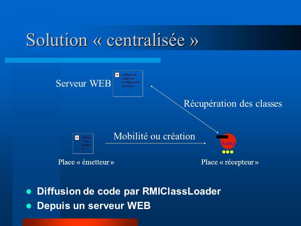 Solution « centralisée »
