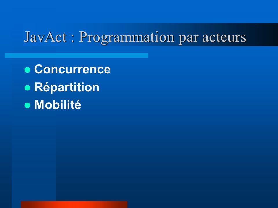 JavAct : Programmation par acteurs