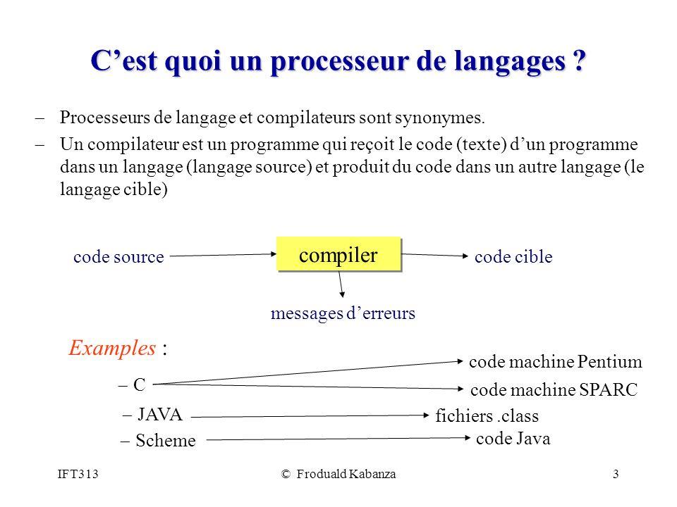 C'est quoi un processeur de langages