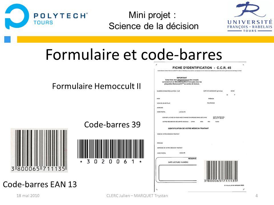 Formulaire et code-barres