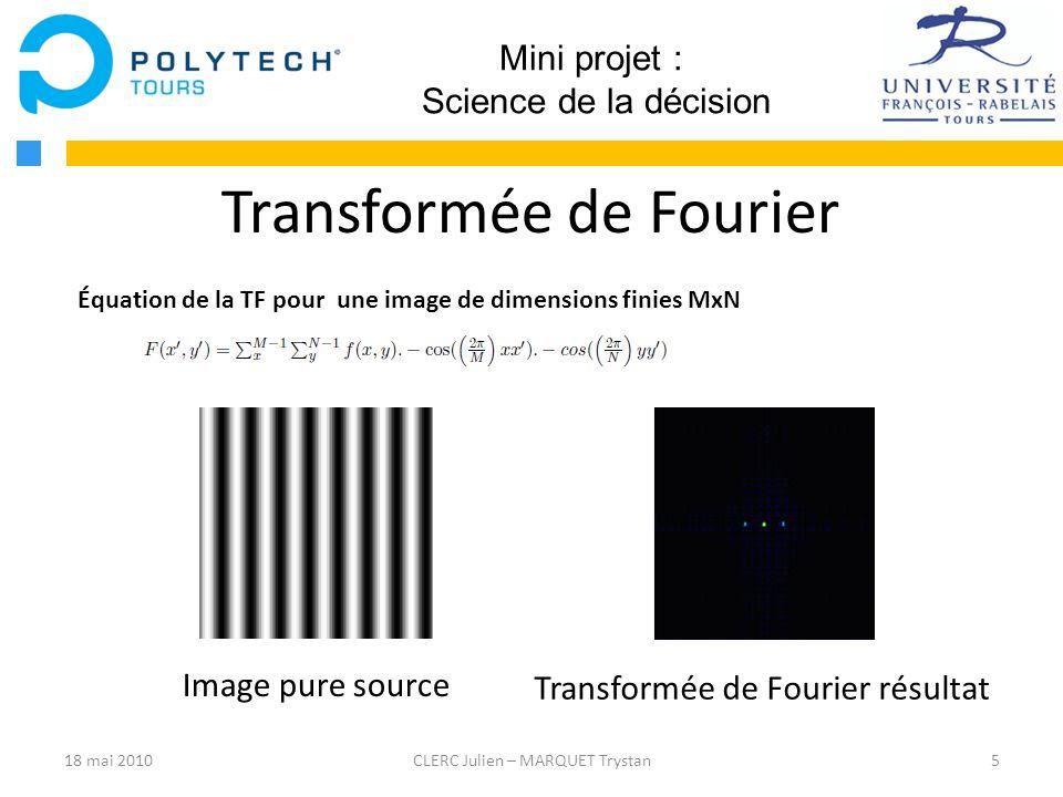 Équation de la TF pour une image de dimensions finies MxN