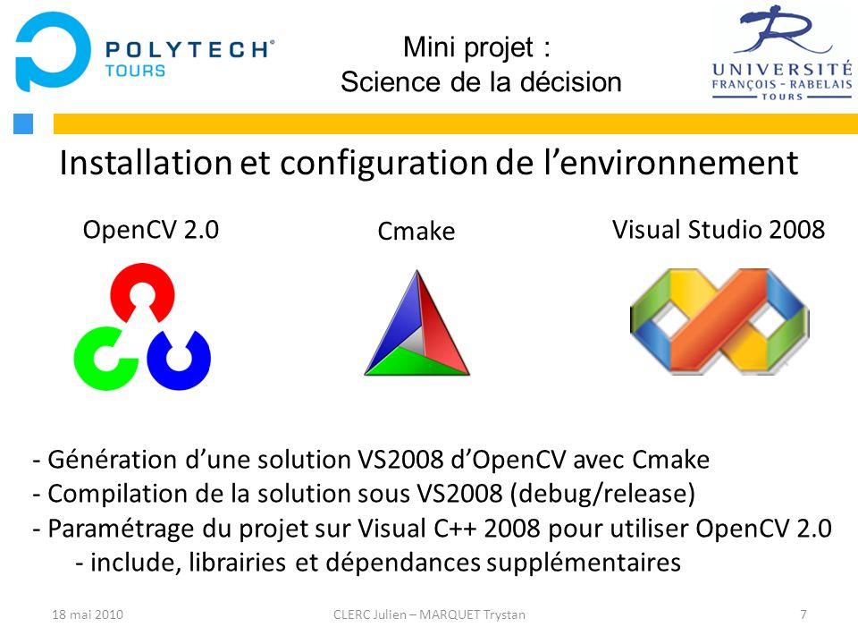 Installation et configuration de l'environnement