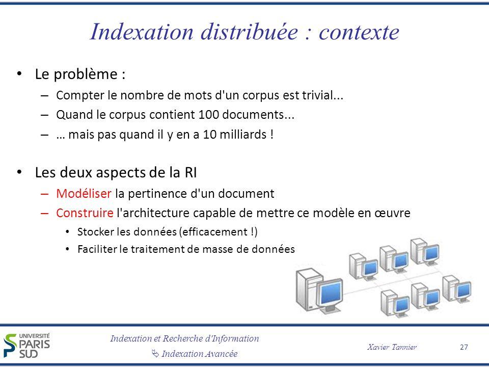 Indexation distribuée : contexte
