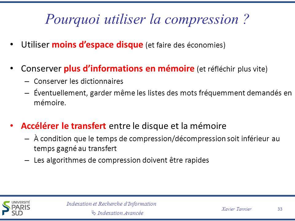 Pourquoi utiliser la compression