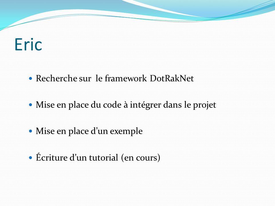 Eric Recherche sur le framework DotRakNet