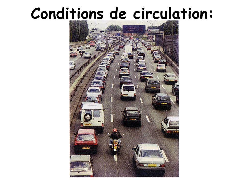 Conditions de circulation: