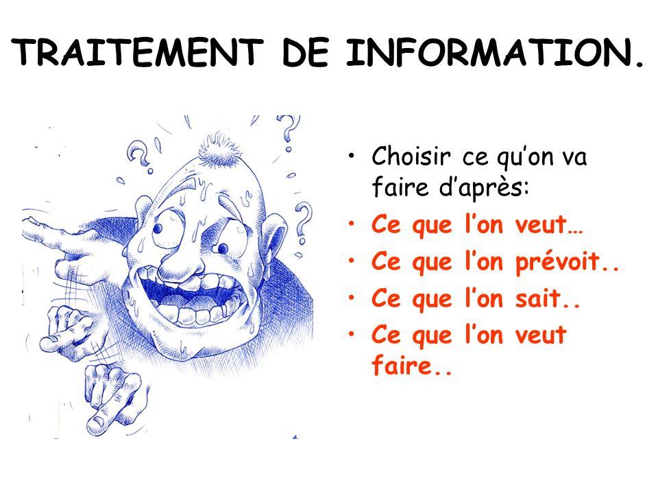 TRAITEMENT DE INFORMATION.