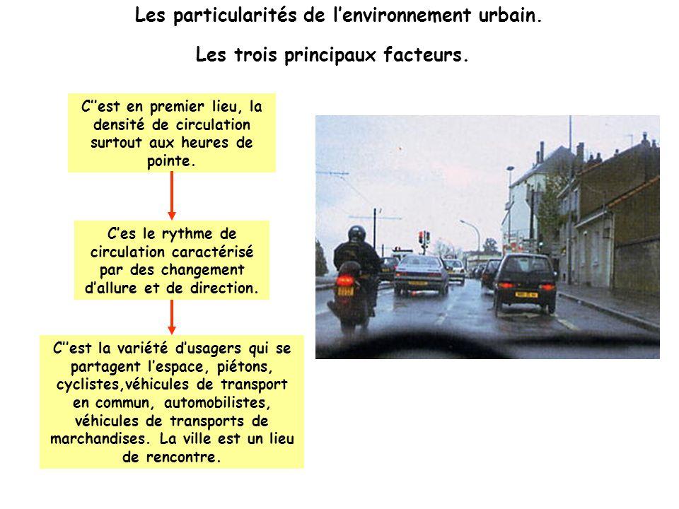 Les particularités de l'environnement urbain.