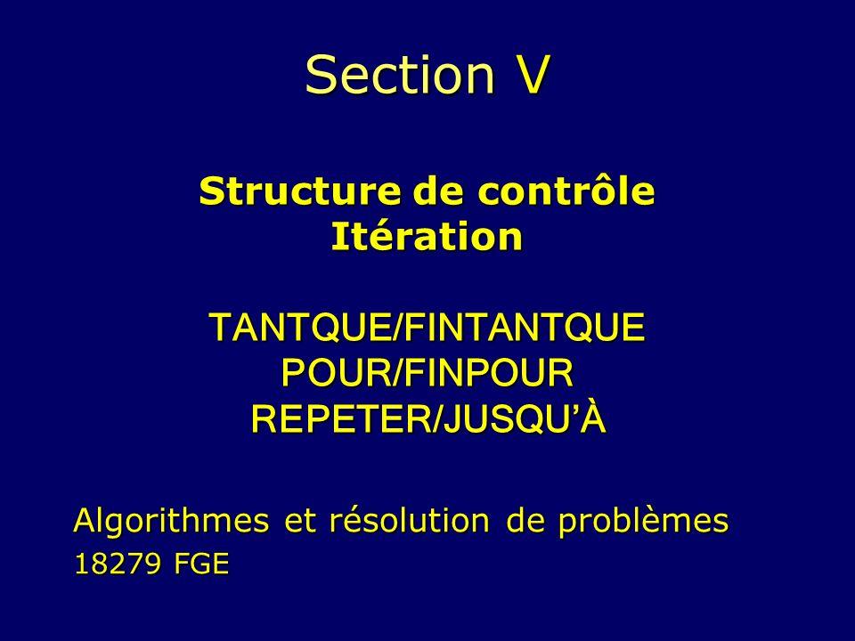 Algorithmes et résolution de problèmes 18279 FGE