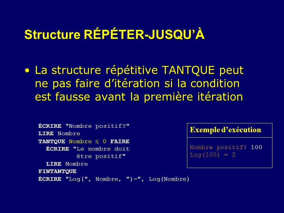 Structure RÉPÉTER-JUSQU'À