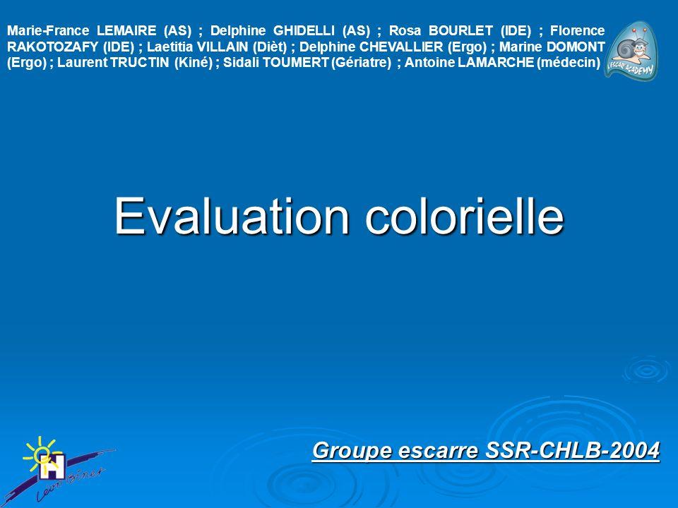 Evaluation colorielle