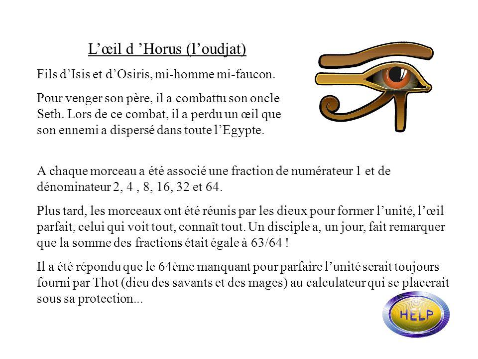 L'œil d 'Horus (l'oudjat)