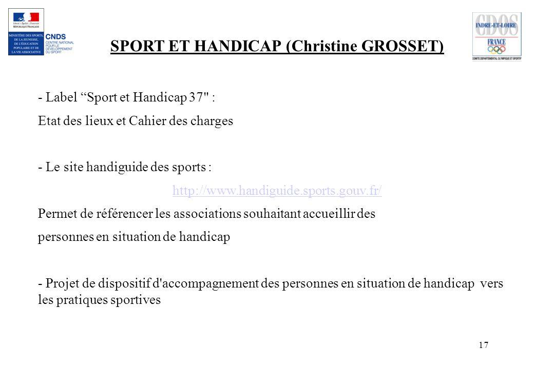 SPORT ET HANDICAP (Christine GROSSET)