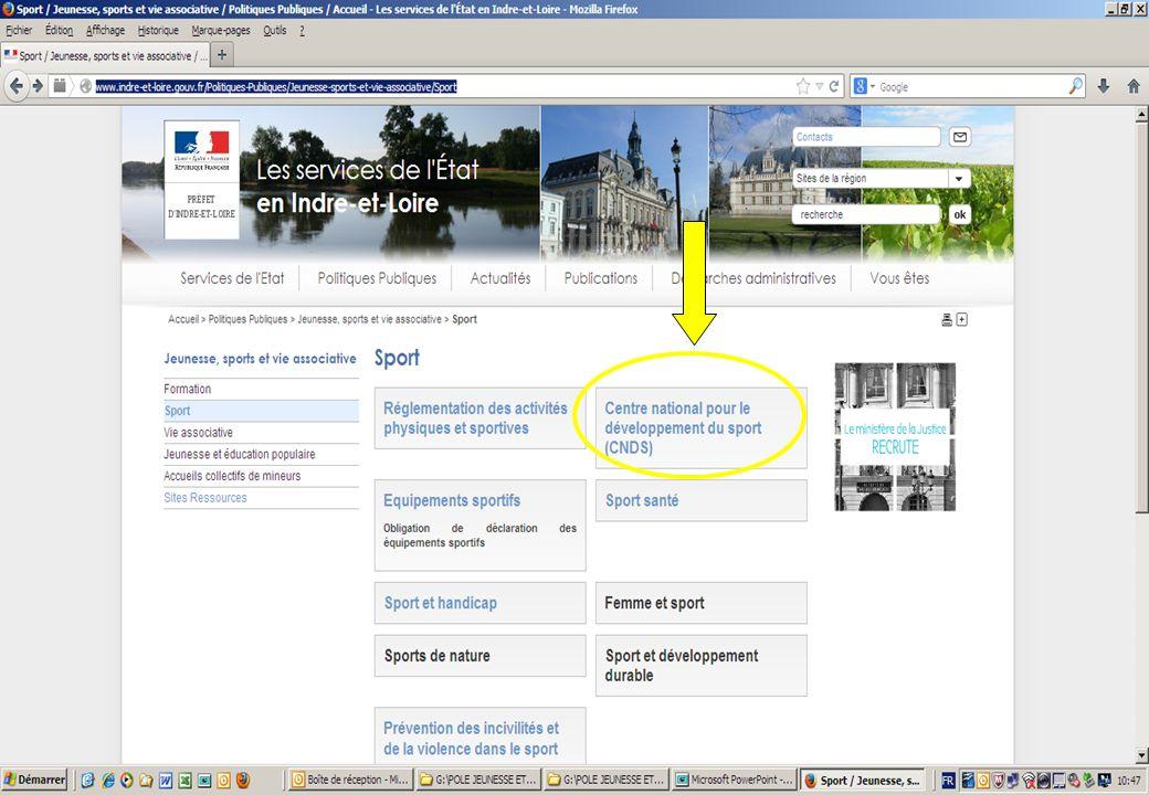 Procédures CNDS 2014: L'ensemble des informations sont disponibles sur : http://www.indre-et-loire.gouv.fr/